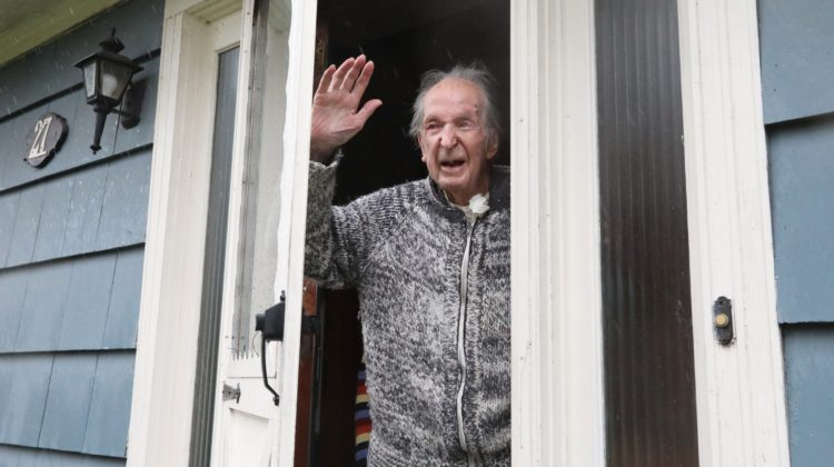 Coronavirus social distancing can't stop birthday salute for WWII vet